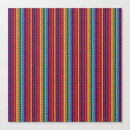 Ultra Bright Pattern Textured Lines Canvas Print