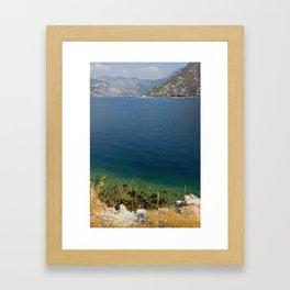 The Bay Of Kotor In Montenegro Framed Art Print