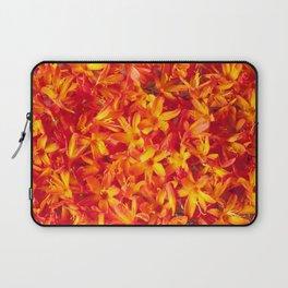 Orange Flowers Laptop Sleeve