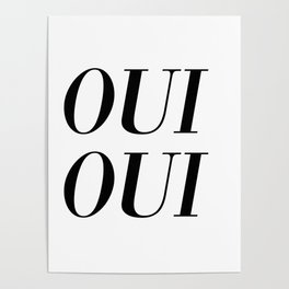 oui oui Poster