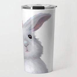 White Rabbit Girl isolated Travel Mug