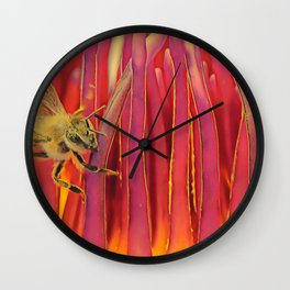 A Bee's World Wall Clock