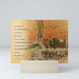 Serenity Prayer Autumn Harmony Mini Art Print