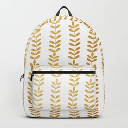 Trellis of Gold leafs Backpack
