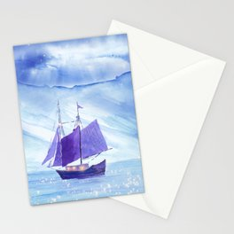 Sailing in Winter Stationery Cards
