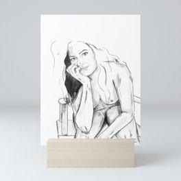 Woman - my mind Mini Art Print