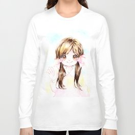 Girl in Twintails Long Sleeve T-shirt