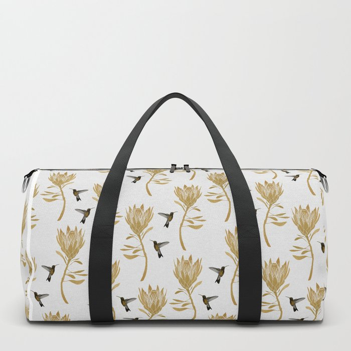 Hummingbird & Flower I Duffle Bag