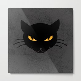 Evil Kitty Metal Print