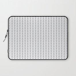 Light gray knitted pattern Laptop Sleeve