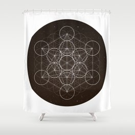 Metatrons Cube Is Out Of Space Shower Curtain