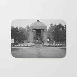 Jimi Hendrix Memorial Greenwood Memorial Park, Northeast Renton, Washington black and white photograph - photographs Bath Mat