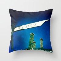 hogwarts Throw Pillows featuring Hogwarts by courtneeeee