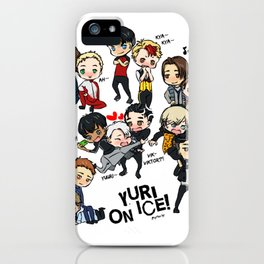 Yuri On Ice - Full Chibi Team! iPhone Case