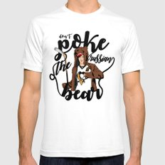 Don't Poke the Russian Bear Mens Fitted Tee 2X-LARGE White
