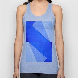 Lapis Lazuli Shapes - Cobalt Blue Abstract Unisex Tank Top
