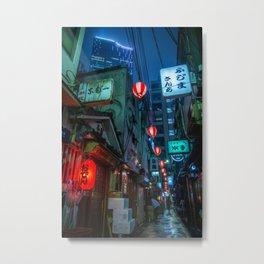 Tokyo Yokocho Metal Print