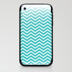 chevron - teal iPhone & iPod Skin
