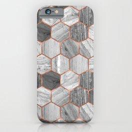 Marble Hexagons iPhone Case