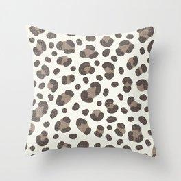 Linen Leopard Print Throw Pillow