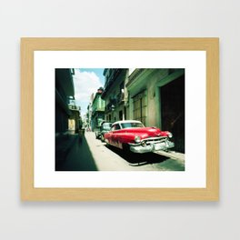 Cuban hover car Framed Art Print