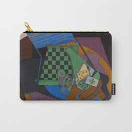 """Juan Gris """"Damier et cartes à jouer (Checkerboard and playing cards)"""" Carry-All Pouch"""