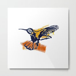 Hummingbird - Colour Metal Print