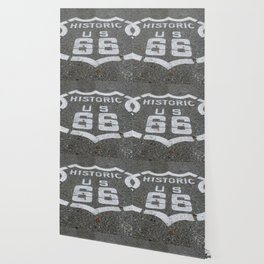 Route 66 sign on the road Wallpaper