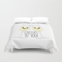 Cheers To You! Champagne Duvet Cover