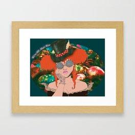 AfroPuff Hatter Framed Art Print