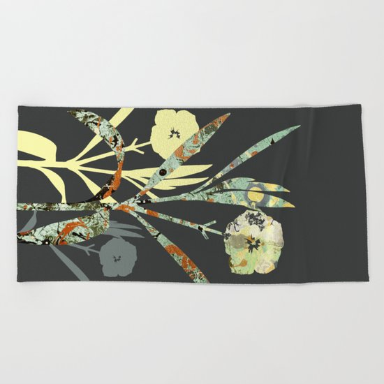 Floral Decor III Beach Towel