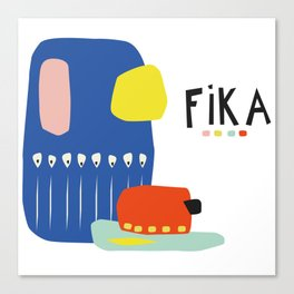 Fika Collage Canvas Print
