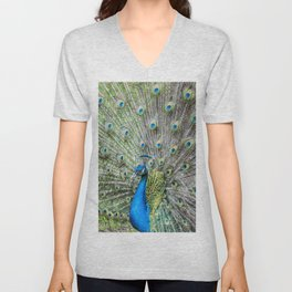 The peacock portrait Unisex V-Neck