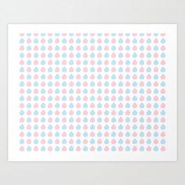 Colorful cupcakes pattern Art Print