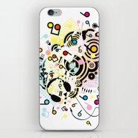headphones iPhone & iPod Skins featuring Headphones by AURA-HYSTERICA