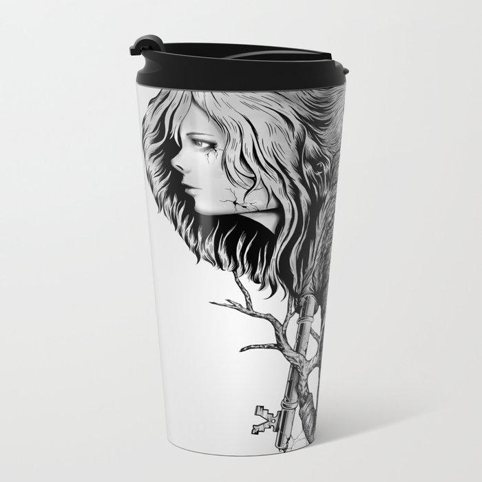 Hidden Memories (B/W) Metal Travel Mug
