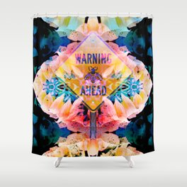 flowers and bees Shower Curtain