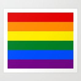 LGBT Pride Flag (LGBTQ Pride, Gay Pride) Art Print
