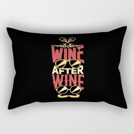 Wine Funny Drinking Rectangular Pillow
