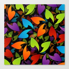Four seasons leaves- colorful leaves to symbolize seasons Canvas Print