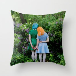 sara and laetitia at kornerpark Throw Pillow