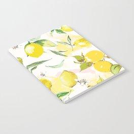 Watercolor lemons Notebook
