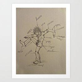 Russian Lesson -- The Body Art Print