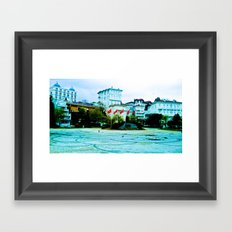 The entrance to the island. Framed Art Print