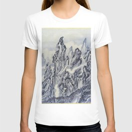 12,000pixel-500dpi - Kawanabe Kyosai - Mountain - Digital Remastered Edition T-shirt