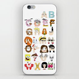 Child of the 00s Alphabet iPhone Skin