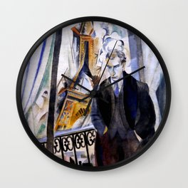 """Robert Delaunay """"Le Poète Philippe Soupault"""" Wall Clock"""
