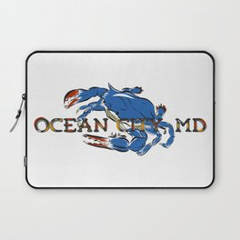 Ocean City Blue Crab Laptop Sleeve