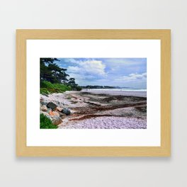 Carmel Beach California Coastal Landscape Framed Art Print