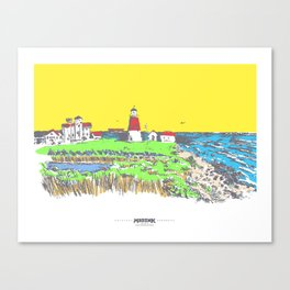 MADink Point Judith Lighthouse Canvas Print